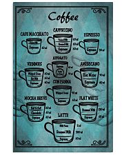 Blue vintage coffee poster 11x17 Poster front