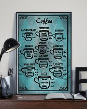 Blue vintage coffee poster 11x17 Poster lifestyle-poster-2
