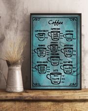 Blue vintage coffee poster 11x17 Poster lifestyle-poster-3