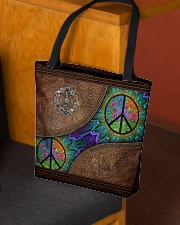 Peace Leather pattern print All-over Tote aos-all-over-tote-lifestyle-front-02