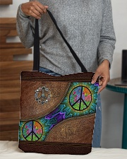 Peace Leather pattern print All-over Tote aos-all-over-tote-lifestyle-front-10