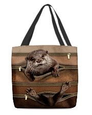 Otter Leather Pattern Print All-over Tote back