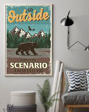 Go outside worst case scenario a bear kills you 11x17 Poster lifestyle-poster-1