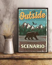 Go outside worst case scenario a bear kills you 11x17 Poster lifestyle-poster-3