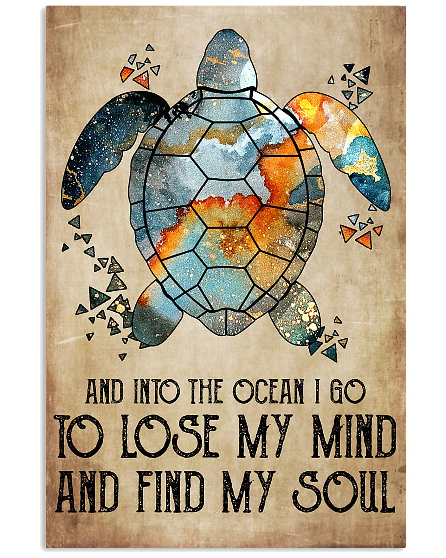 And into the ocean I go 11x17 Poster