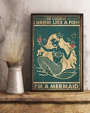 Of course I drink like a fish 11x17 Poster lifestyle-poster-3