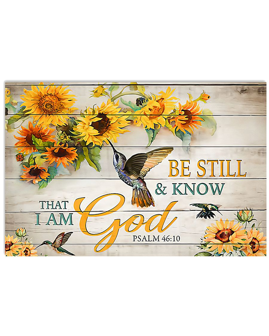 Be still and know 17x11 Poster