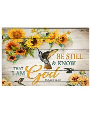 Be still and know 17x11 Poster front