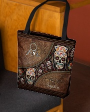 Nurse Life Leather Pattern Print Personalized All-over Tote aos-all-over-tote-lifestyle-front-02