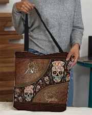 Nurse Life Leather Pattern Print Personalized All-over Tote aos-all-over-tote-lifestyle-front-10