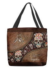 Nurse Life Leather Pattern Print Personalized All-over Tote front