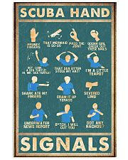 Scuba hand signals 11x17 Poster front