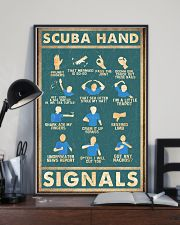Scuba hand signals 11x17 Poster lifestyle-poster-2
