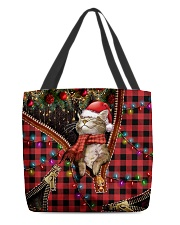 Meowy Christmas All-over Tote back