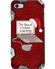 The Year Of Virtual Learning Metal Pattern Print  Phone Case i-phone-8-case