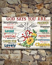 God says you are 17x11 Poster poster-landscape-17x11-lifestyle-16