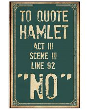Hamlet Quote 11x17 Poster front