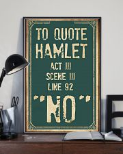 Hamlet Quote 11x17 Poster lifestyle-poster-2