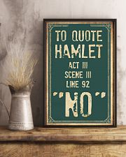 Hamlet Quote 11x17 Poster lifestyle-poster-3