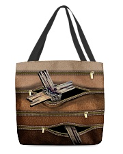 God Leather Pattern Print  All-over Tote front