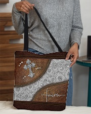 Faith Leather pattern print All-over Tote aos-all-over-tote-lifestyle-front-10