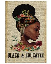 Black and educated 11x17 Poster front