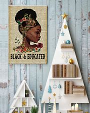 Black and educated 11x17 Poster lifestyle-holiday-poster-2