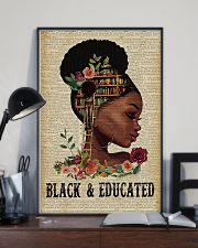 Black and educated 11x17 Poster lifestyle-poster-2