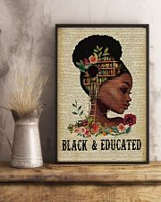 Black and educated 11x17 Poster lifestyle-poster-3
