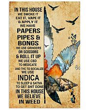 In this house we smoke it 11x17 Poster front