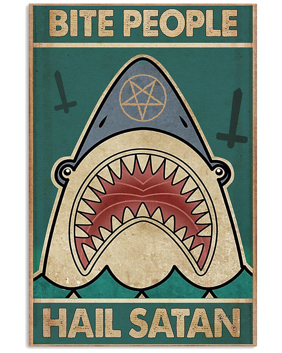 Bite people hail satan 11x17 Poster