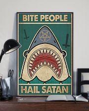 Bite people hail satan 11x17 Poster lifestyle-poster-2