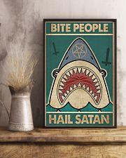 Bite people hail satan 11x17 Poster lifestyle-poster-3