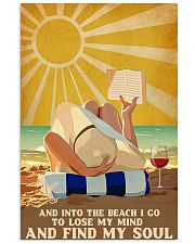 And into the beach I go 11x17 Poster front