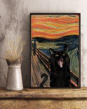 Black cat scream 11x17 Poster lifestyle-poster-3