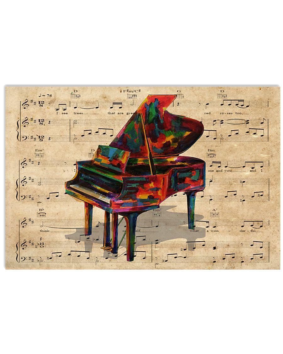 Watercolor piano 17x11 Poster