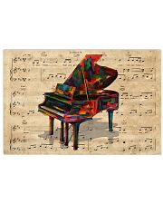 Watercolor piano 17x11 Poster front