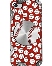 I love baseball Metal pattern print  Phone Case i-phone-8-case