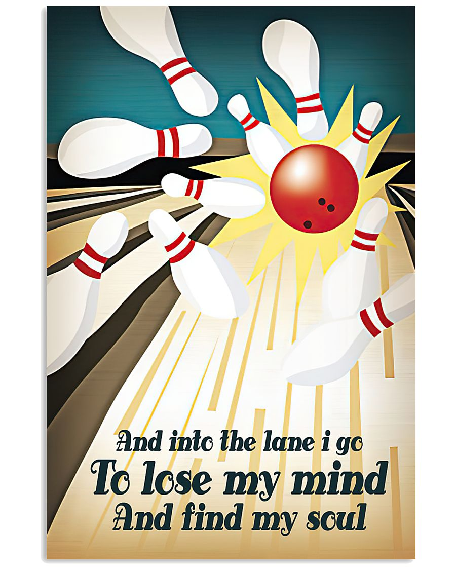 And into the lane I go 11x17 Poster