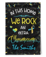 """In this home we rock an extra chromosome 11.5""""x17.5"""" Garden Flag front"""