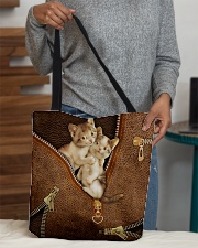 Lovely Cats Leather Pattern Print All-over Tote aos-all-over-tote-lifestyle-front-10