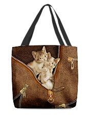Lovely Cats Leather Pattern Print All-over Tote front