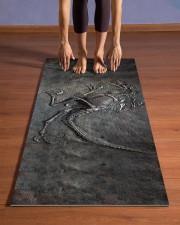 Dinosaur Fossil Metal Pattern Printed Yoga Mat 24x70 (vertical) aos-yoga-mat-lifestyle-26