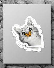 Butterfly and cat  Sticker - 4 pack (Vertical) aos-sticker-4-pack-vertical-lifestyle-front-09