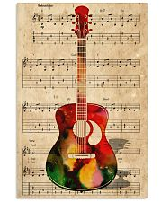 Watercolor guitar 11x17 Poster front