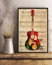 Watercolor guitar 11x17 Poster lifestyle-poster-3