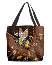 Be kind Leather pattern print All-over Tote front