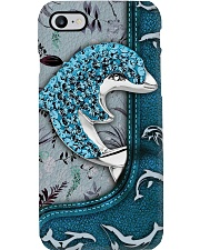 Love Dolphins - Pattern Print Phone Case i-phone-8-case