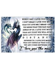 When I say I love you more 17x11 Poster front