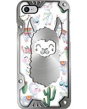 Cute Llamas Metal Pattern Print Phone Case i-phone-8-case